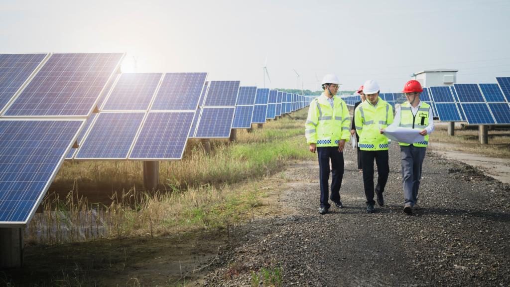 solar panels inspection