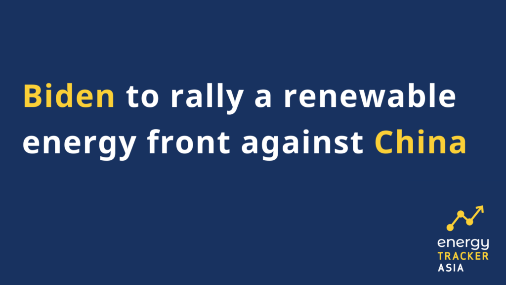 Biden to rally a renewable energy front against China graphic