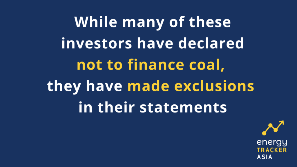 Investors declared not to finance coal graphic