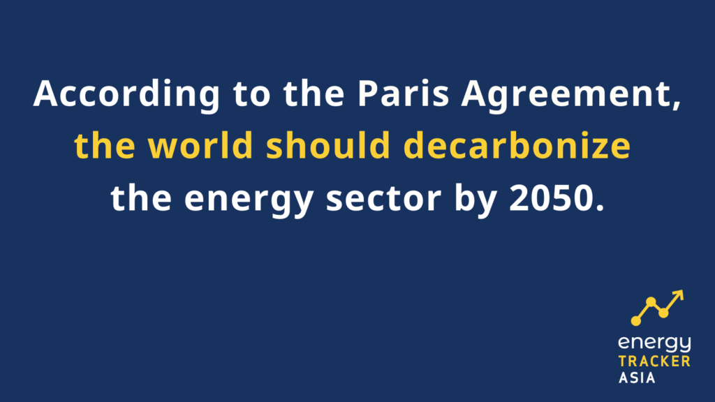 Paris agreement decarbonize the energy sector by 2050