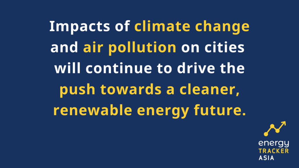 Climate change and air pollution will push towards a renewable energy future