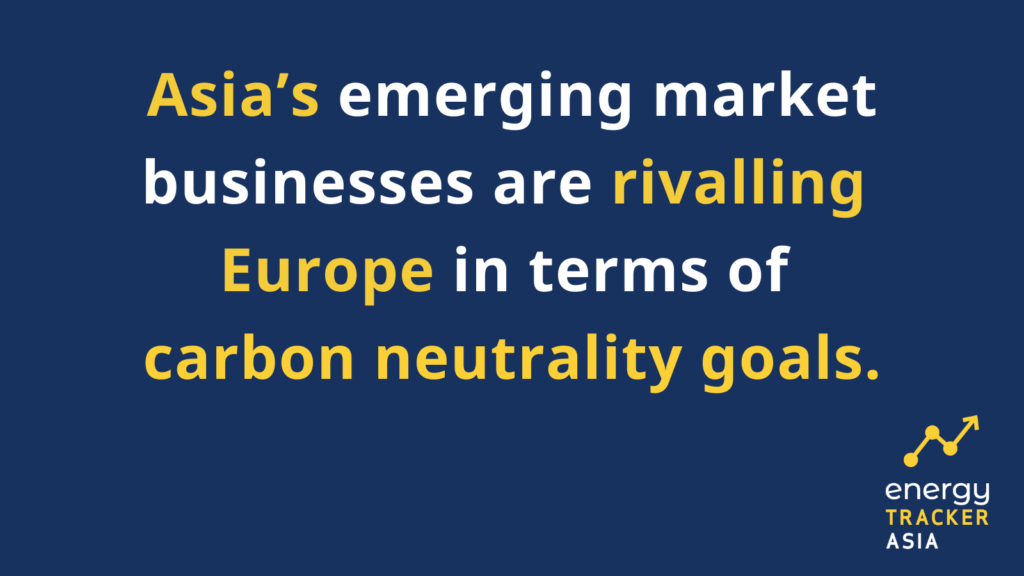 Asia's emerging market businesses are rivalling Europe in terms of carbon neutrality goals