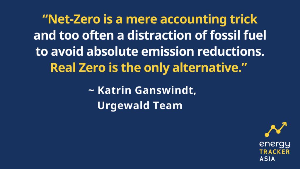 quote about coal financing, coal financing Asia, net-zero