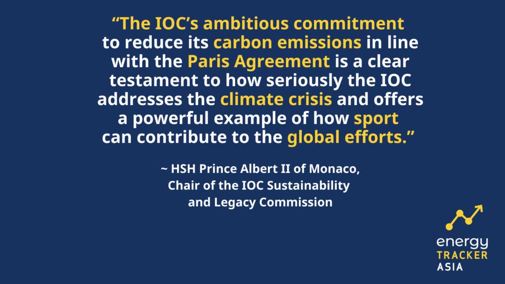 renewable energy, Paris Agreement, Tokyo 2021, Tokyo Olympics, Tokyo Carbon Offset Programme, carbon offset, green sports